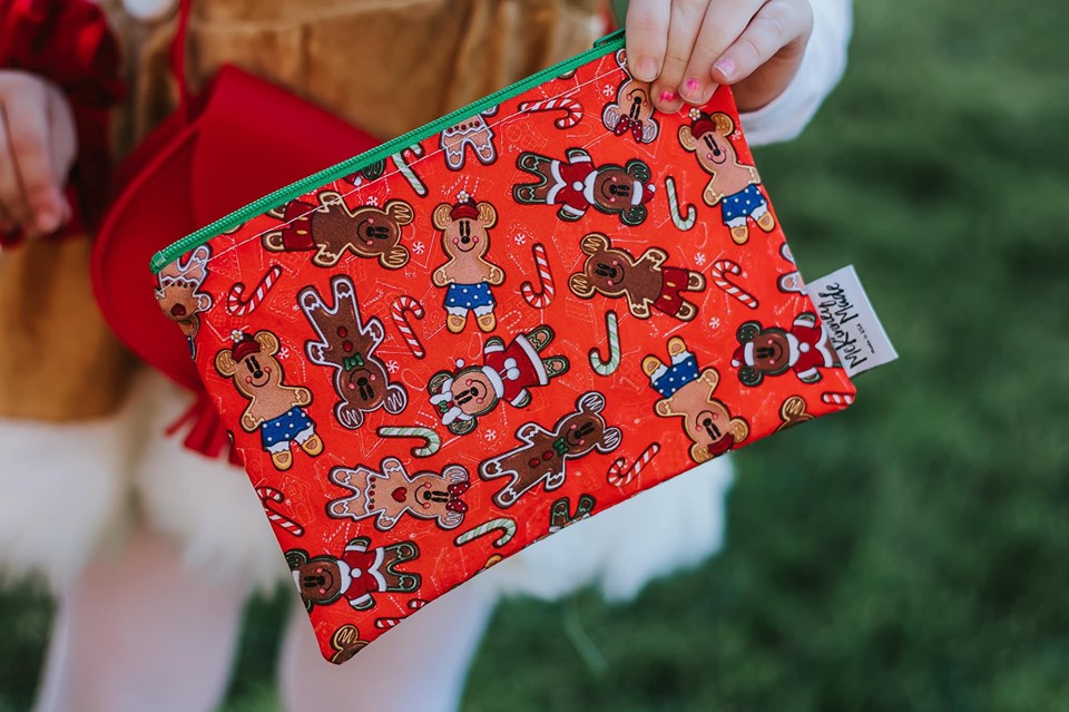 Reusable Snack Bags, Gingerbread Mouse Red
