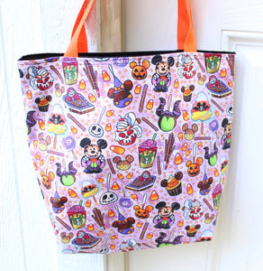 Tricky Snacks Purple Tote