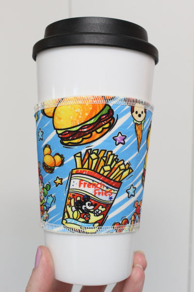 Burger and Fries Blue, Coffee Sleeve