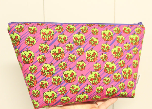 Poison Apples Pink, Small Makeup Bag
