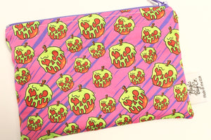 Poison Apples Pink, Reusable Snack Bags