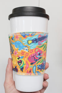 Australia Animals Yellow, Coffee Sleeve