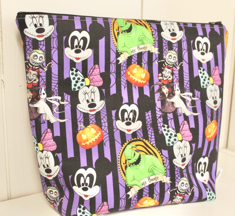 Mousey Nightmares, Large Makeup Bag or Ear Bag