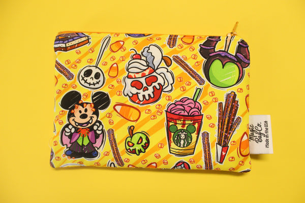 Tricky Snacks Yellow, Reusable Snack Bags
