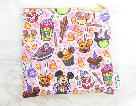 Tricky Snacks Purple, Reusable Snack Bags