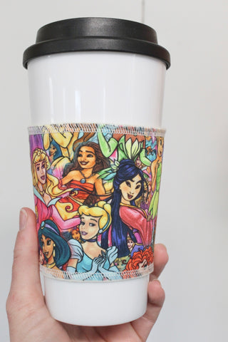 Princesses Stacked, Coffee Sleeve