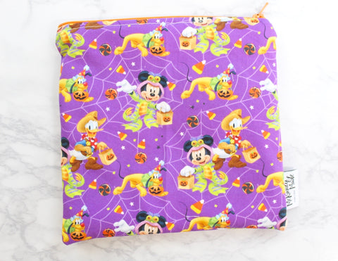 Halloween Mouse Purple, Reusable Snack Bags