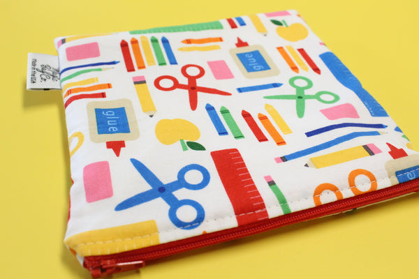 School supplies, Reusable Snack Bags