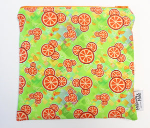 Citrus Mouse, Reusable Snack Bags