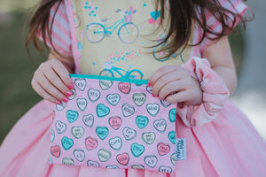 Conversation Hearts, Reusable Snack Bags