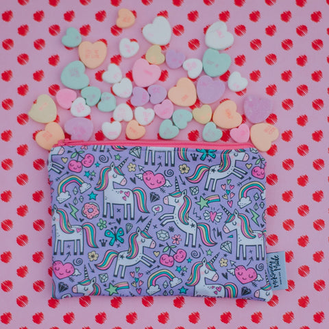 Unicorn Hearts, Reusable Snack Bags
