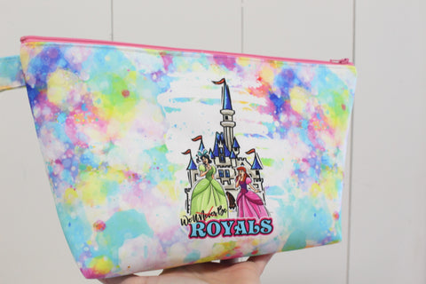 Cinderella Royals, Small Makeup Bag with Panel