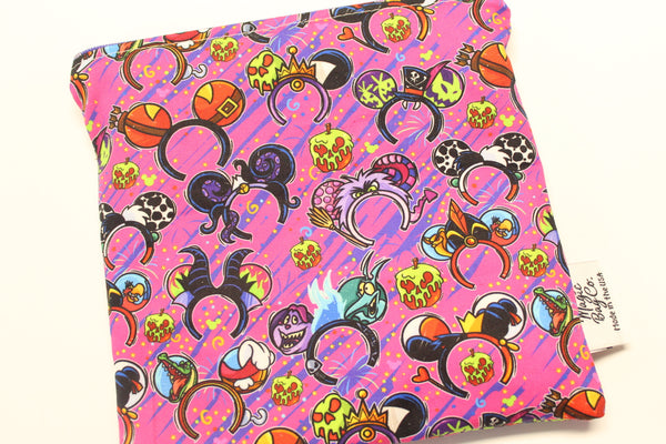 Evil Ears Pink, Reusable Snack Bags