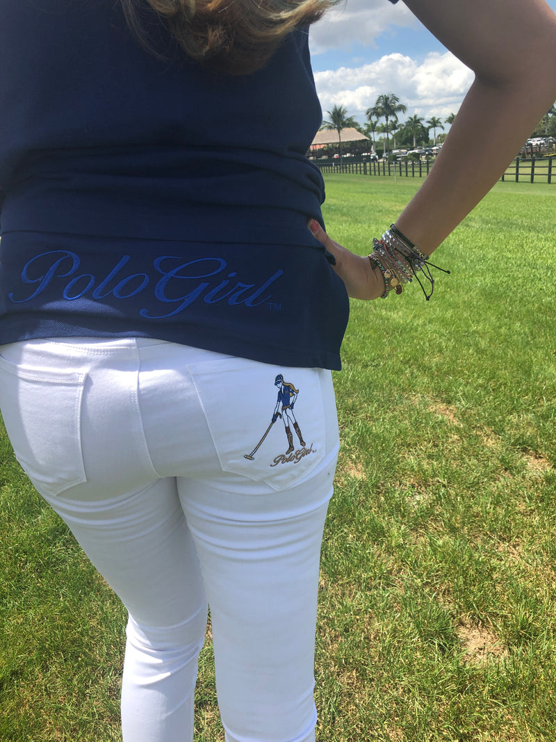 MG PoloGirl Long Tail Pique Polo Shirt