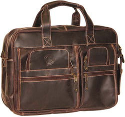 PoloGear Leather Parkmam Computer Briefcase