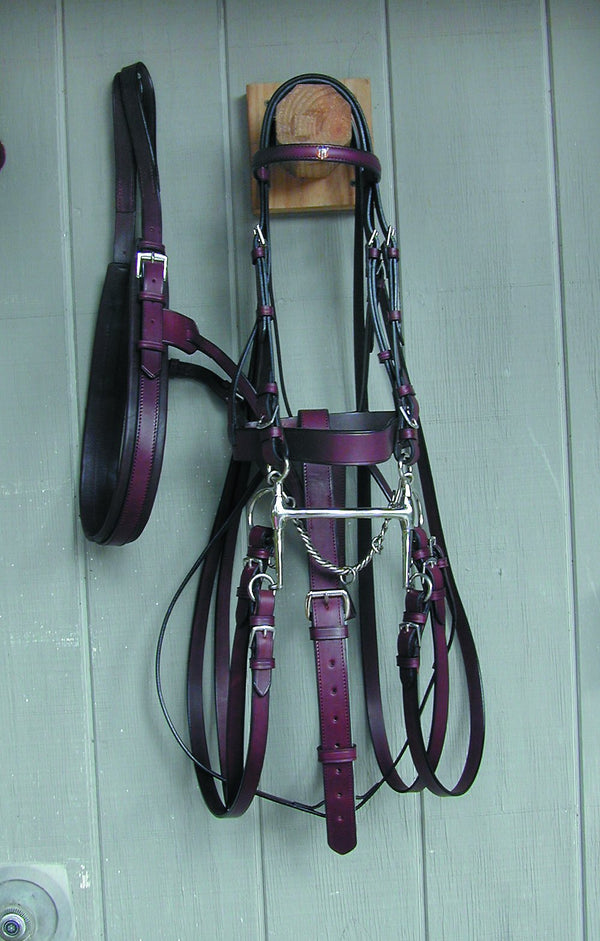 Pelham Bridle Complete - English Bridle Leather