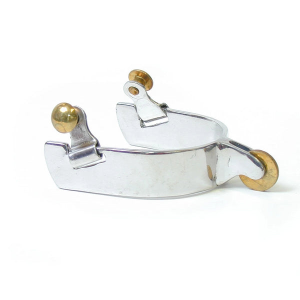 Stainless Steel Polo Spur with Brass Rowel