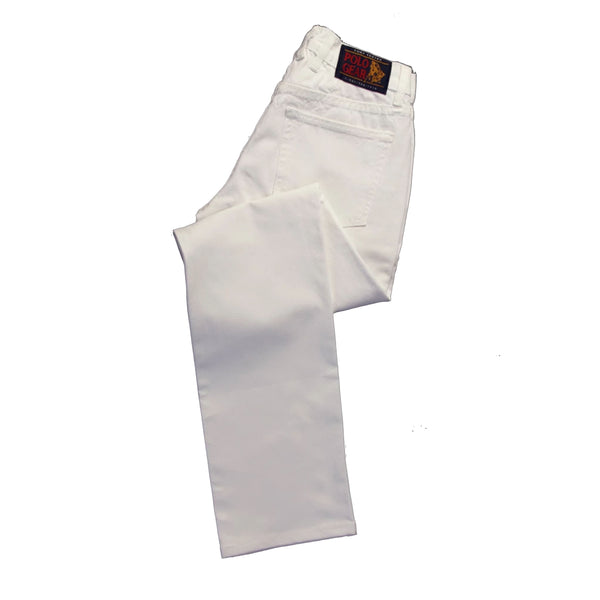 Men's Polo White Performance Jeans