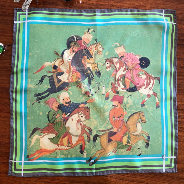 Silk Pocket Square (Small Scarf)-Polo Tang Dynasty
