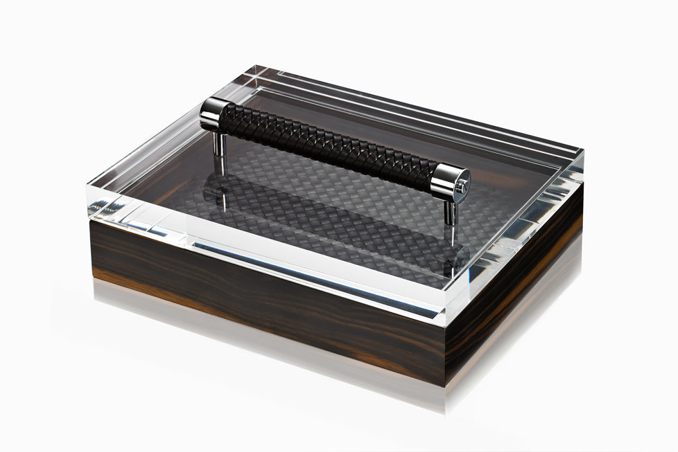 LEATHER HOME COLLECTION - MACASSAR EBONY BOX