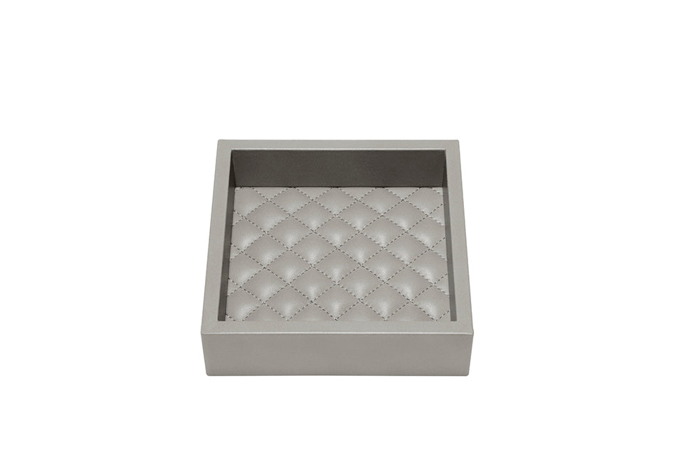 RIVIERE I GREY LEATHER TRAY I SMALL