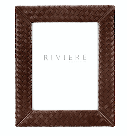 RIVIERE I HANDWOVEN LEATHER PICTURE FRAME I BROWN I 13X18