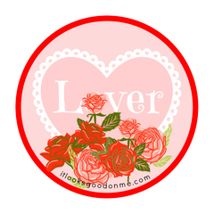 lover iron on free printable patch from it looks good on me