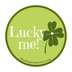 Lucky me printable iron on patch from it looks good on me