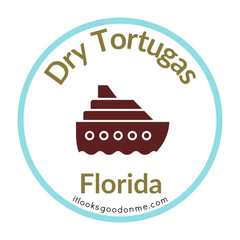 Dry Tortugas Florida national park printable iron on patch