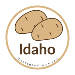 Idaho potatoes picture iron on patch it looks good on me