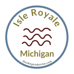 Isle Royale National Park Michigan printable iron on patch