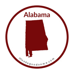 Alabama state outline printable iron on patch it looks good on me