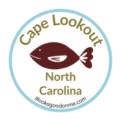 Cape Lookout North Carolina national seashore patch from it looks good on me