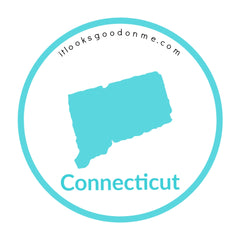Connecticut state outline printable iron on patch it looks good on me