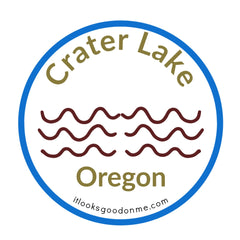 Crater Lake Oregon National Park printable iron on patch It Looks Good On Me