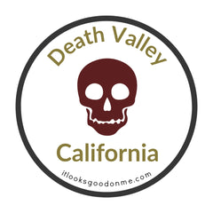 death valley california national park iron on patch