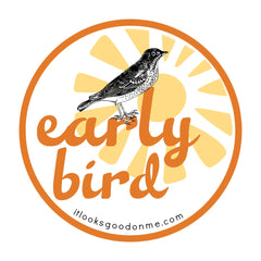 early bird printable iron on patch from it looks good on me