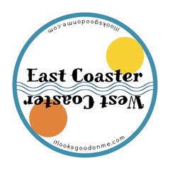east coaster west coaster iron on patch from it looks good on me