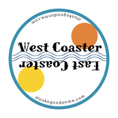 west coaster east coaster iron on patch from it looks good on me