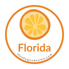 Florida orange picture iron on patch it looks good on me