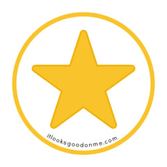 gold star printable patch from it looks good on me