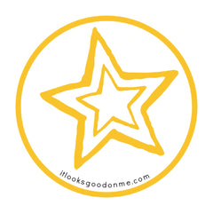 open gold star printable patch