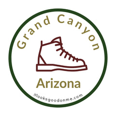 Grand Canyon Arizona State Park It looks good on me iron on patch