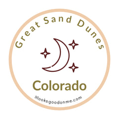 great sand dunes colorado national park iron on patch