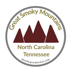 Great Smokey Mountains North Carolina Tennessee National Park iron on patch