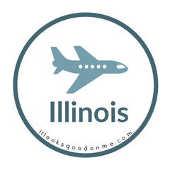 Illinois airplane picture iron on patch it looks good on me