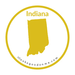 Indiana state outline printable iron on patch it looks good on me