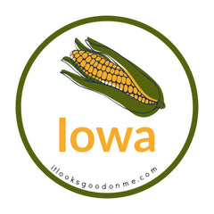 Iowa corn picture iron on patch it looks good on me