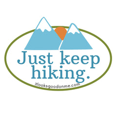 just keep hiking free printable iron on patch from it looks good on me