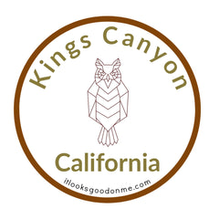 kings canyon iron on patch california